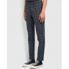 Farah Elm Check Blue Trousers