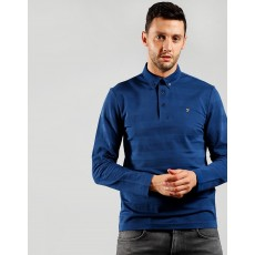 Farah Stapleton Ultramarine Long Sleeve Polo