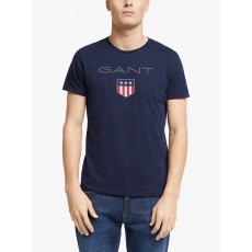 Gant Archiveshield Short Sleeve Navy T-Shirt