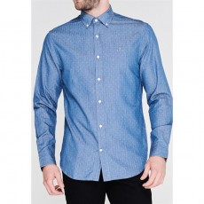 Gant Dobby Regular Blue Shirt