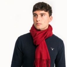 Gant Solid Wool Red Scarf