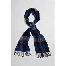 Gant Multi Check Wool Blue Scarf
