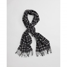 Gant Checked Twill Wool Grey Scarf