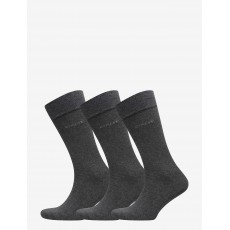 Gant 3-Pack Soft Cotton Charcoal Socks