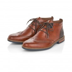 Rieker Chestnut and Peanut Brown Brogue