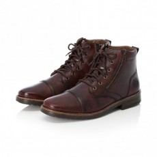 Rieker Red Brown Ankle Boot