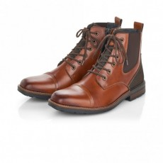 Rieker Chestnut Brown Lace Up Ankle Boot