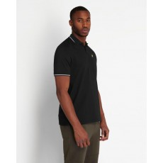 Lyle & Scott  Tipped Black Polo Shirt