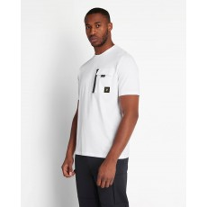 Lyle & Scott  Chest Pocket White T-Shirt