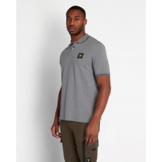 Lyle & Scott  Tipped Grey Polo Shirt