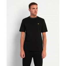 Lyle & Scott  Branded Ringer Black T-shirt