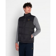 Lyle & Scott  Wadded Black Gillet