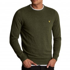 Lyle & Scott  Crew Neck Cotton Menno Green Jumper