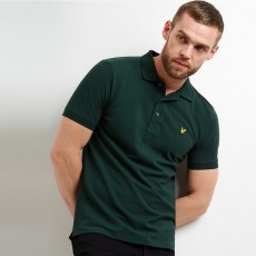 Lyle & Scott  Plain Green Polo Shirt