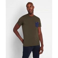 Lyle & Scott  Contrast Pocket Green/Navy T-shirt