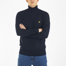 Lyle & Scott  Roll Neck Jet Black Jumper