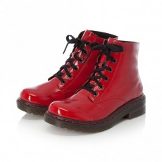 Rieker Red Lace Up Ankle Boot