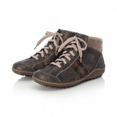 Rieker Black and Brown Patterned Trainer