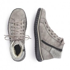 Rieker Grey and Black Trainer