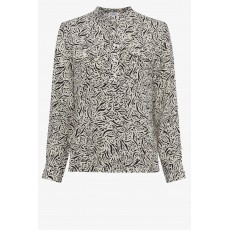 Great Plains Javan Print LS Top Black/White