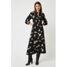 Great Plains Winter Umbra LS Dress Black Combo