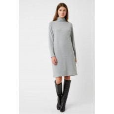Great Plains Kitten Soft High Neck Dress Grey Mel