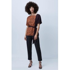 French Connection Rosalind Asymetric Neck Top Decadence/Canyon