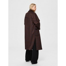Selected Element Check Wool Coat