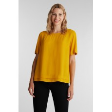 Esprit Core Crepe Blouse Brass Yellow