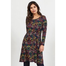 Nomads Side Knot Aubergine Dress