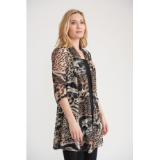 Joseph Ribkoff Ladies Cover-up Black/Beige