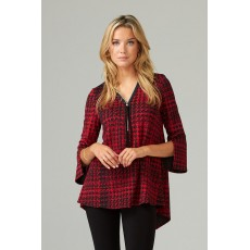 Joseph Ribkoff Womens Tunic Black/Red