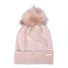 Barbour International Sparkle Knit  Beanie Pink
