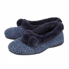 Lotus Alice Navy Slipper
