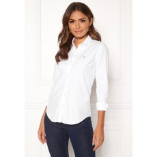 Gant Stretch Oxford Solid White Shirt