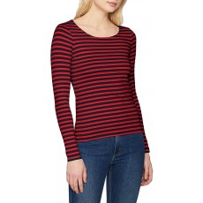 Gant Rib Long Sleeve Red T-Shirt