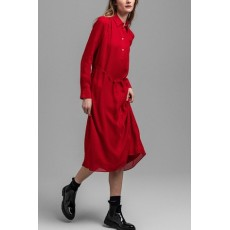 Gant Fairly Dot Chiffon Red Dress