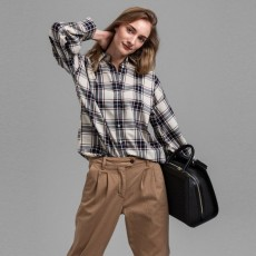 Gant Oxford Plaid Brown Oversized Shirt