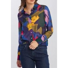 Gant Splendid Floral Multicolour Cot Silk Shirt