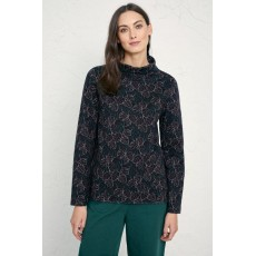 Seasalt Watchful Cyclamen Dark Navy Top