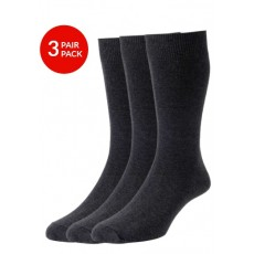 Classic Plain Knit 3Pair Pack Charcoal/Charcoal/Charcoal