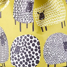 Oil Cloth Apron Dotty Sheep
