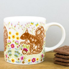 Straight Sided Mug Woodland Squirrel