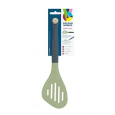 Colourworks Classic Slotted Turner 29cm Silicone Green