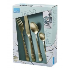 16Pc Champagne Cutlery Set