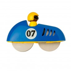Racing Car Pizza Cutter Blue