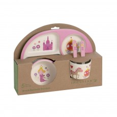 Epicurean Bamboo Kids 5Pc Dinner Set Princess