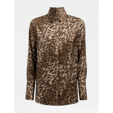 Guess Long Sleeve Vivian Leopard Print Blouse