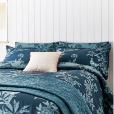 Joules Country Leaf Bedding Navy
