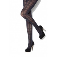 Charnos Tartan Black/Navy Tights